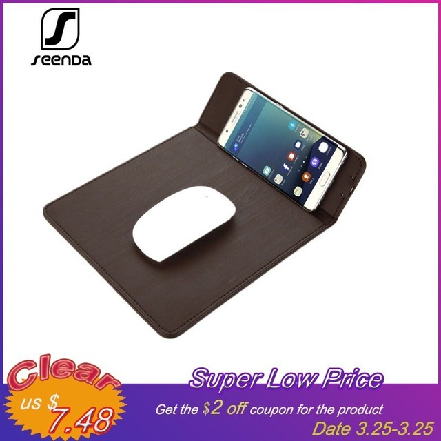 first rate faea3 7cebb US $11.38 40% OFF|SeenDa Wireless Charger Mouse Pad Qi Wireless Charging  For Cell phone Stand Pad For Samsung S8 Note 8 For iphone X Mice Pad-in ...