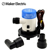 3/4 hose MKBP1-G600-02 600GPH marine self-priming 12 volt mini bilge pump