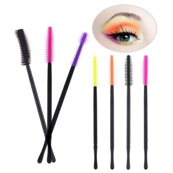 50Pcs Disposable Silicone Eyelash Brush Comb Mascara Wands Eye Lashes Extension Individual Applicator Eye Beauty Makeup