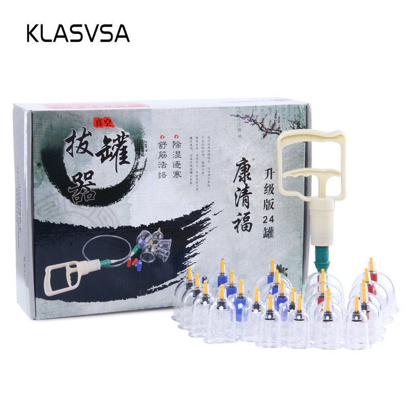 KLASVSA 24 Pcs Chinese Medical Vacuum Cupping Massager Cellulite Suction Body Therapy Guasha Health Care Pain Relief Relaxation KLASVSA 24 Pcs Chinese Medical Vacuum Cupping Massager Cellulite Suction Body Therapy Guasha Health Care Pain Relief Relaxation