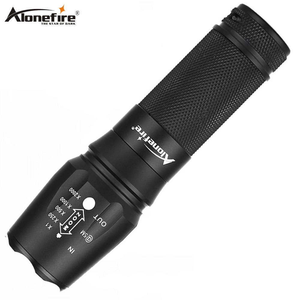AloneFire X800 CREE XP-L V6 L2 Led Zoom Flashlight Troch Lantern Camping Candle Light For AAA 18650 26650 Rechargeable Battery