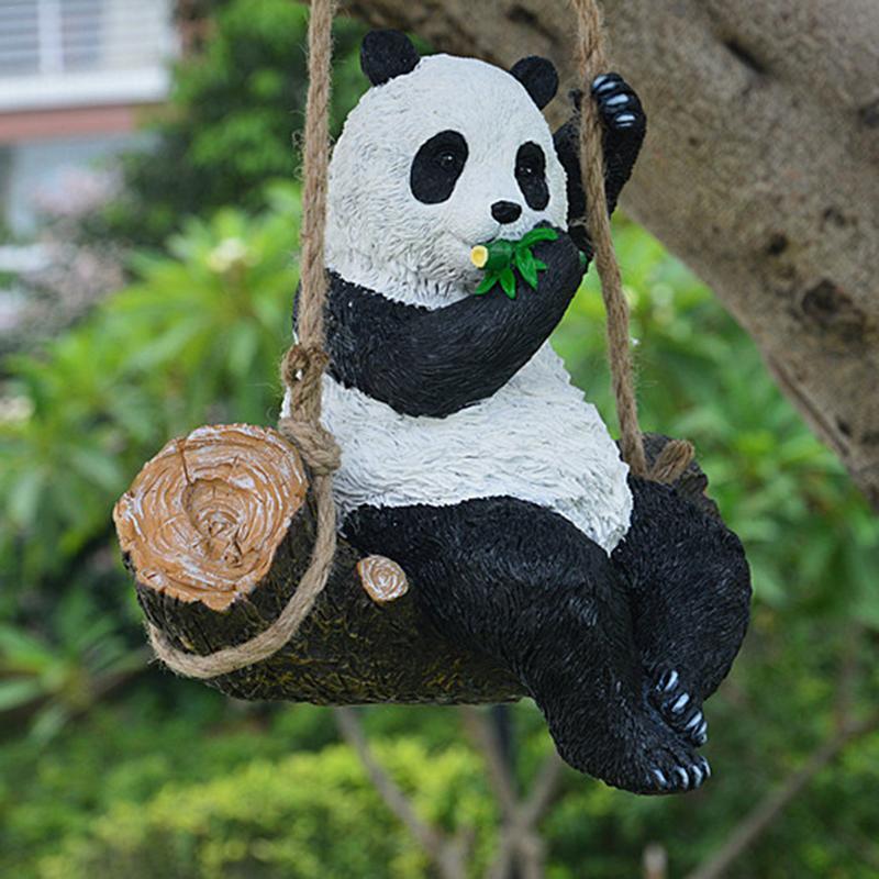 Résine Simulation réaliste oscillant Panda pour maison jardinage Patio bureau école parc parc exposition Hall décoration