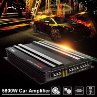5800W Aluminum Alloy Car Amplifier Multichannel Powerful Car Audio Amplifier Vehicle Power Stereo Amp Car Sound Amplifiers
