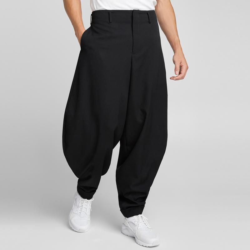 27-44 New 2020 New Men's Hair Stylist fashion Hip hop street Wool Profile Lantern Pants plus size stage costumes
