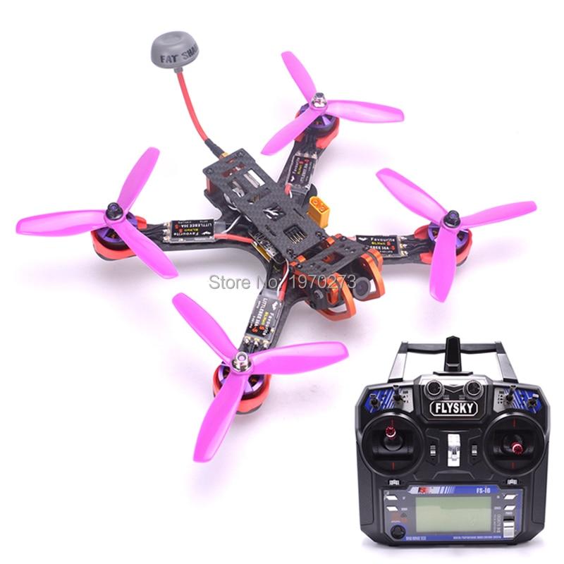 Chameleon 220 220mm FPV Frame Quadcopter Kit 2205 2300kv Motor Littlebee 30A BLHeli-s ESC Fatshark Antenna For RC FPV Drone