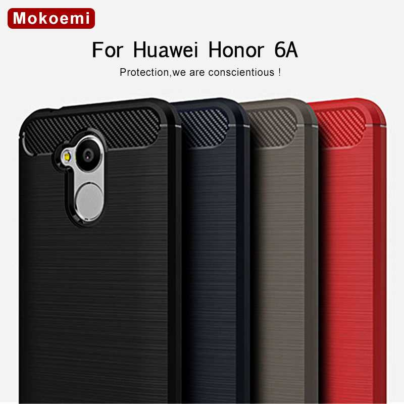 Mokoemi capa de silicone de celular huawei honor 6a, capa macia de silicone anti-impacto com 5.0