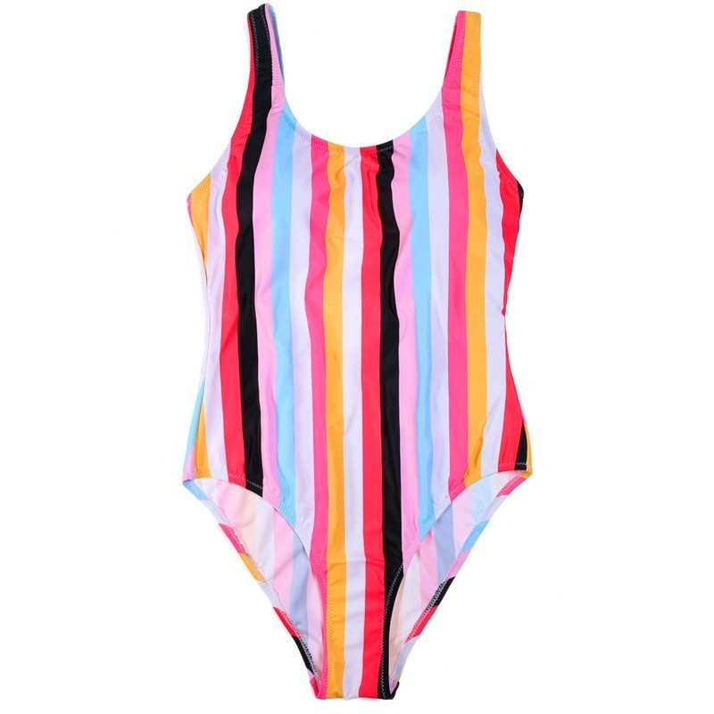 Retro Striped Swimsuit Women Colorful Push Up Bikini Set Three Different Styles Summer Sexy Swim Suits Swimming Suit For Female in Bikinis Set from Sports Entertainment