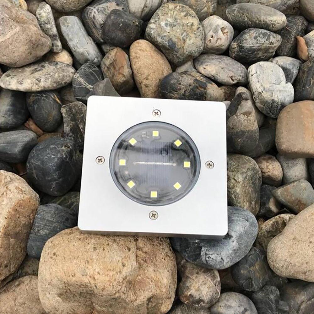Солнечный 8 светодиодный ландшафтный светильник наземная лампа для улицы, для газонов, экологичный, безопасный, освещенный желоб садовые огни