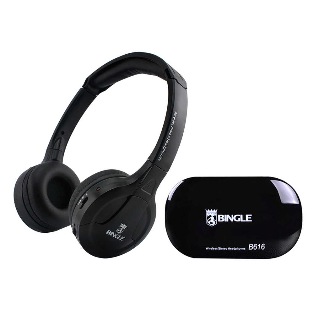 Bingle B616 Multifunction Wireless Stereo Headphones On Ear Headset FM Radio Wired Earphone Transmitter for MP3 PC TV Phones