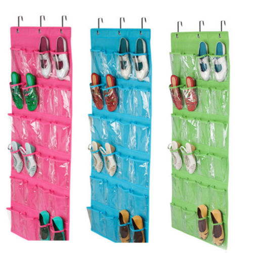 24 Pocket Shoe Space Door Hanging Organizer Rack Wall Bag Storage Closet Holder 1
