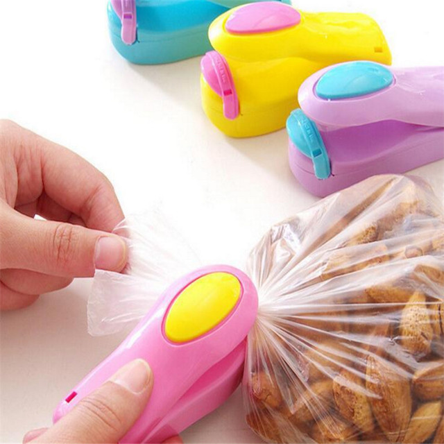 WSOMIGO Mini Pocket Home Sealing Machine Kitchen Accessories Vacuum Bag Cilps Snack Bag Sealer Gadget Accesorios De Cocina-S