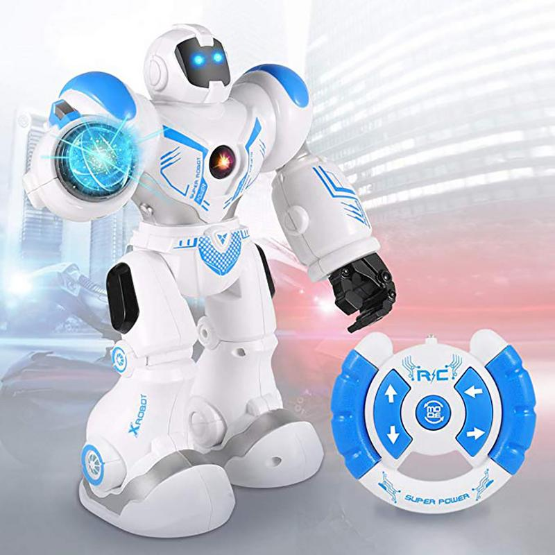 Image 2 - Early Childhood Education Intelligent Electric Remote Control Robot LED Light Singing Dancing Full Presentation RC Robot Toy-in RC Robot from Toys & Hobbies