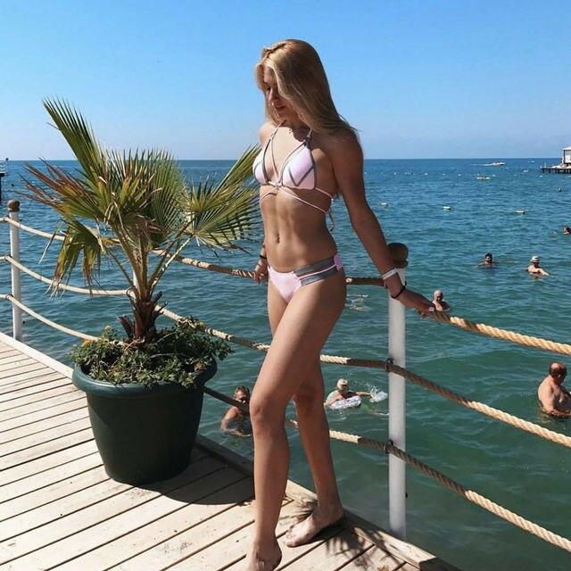 Summer New Bikini 2019 Swimsuit Women Bikini Set Beach Swimsuit Swimwear Padded Push-up Bathing Suit Swimwear Beachwear 2019 4