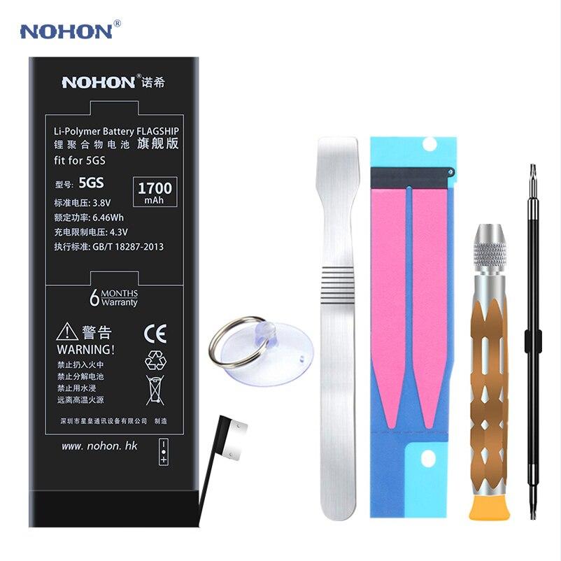 Nohon Batterie Für Apple iPhone 5 S 5C 6 6 s 7 8 Hohe Kapazität Li-polymer Batterie + werkzeuge Für Apple iPhone 5 S 5C 6 6 s 7 8 Batterien