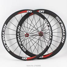 Новый свет 700C спереди 38 мм + сзади 50 мм трубчатый обод дорожный велосипед матовый UD Полный углеродного волокна колесных 20,5 23 мм ширина