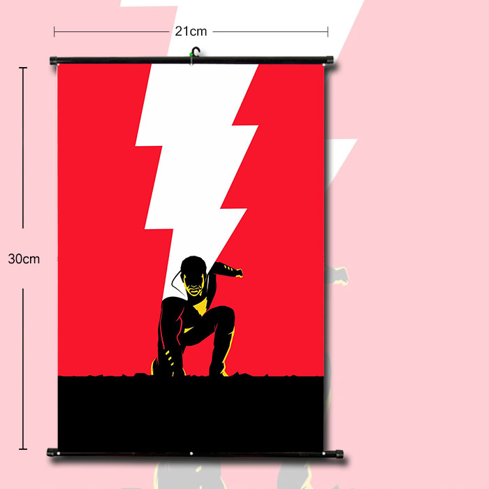 OHCOMICS DC Justice League Shazam Superhero Comic Posters Painting Coated Poster For Home Bar Wall Posters Stickers