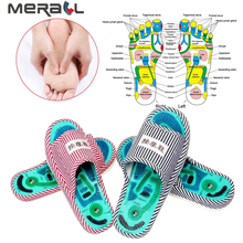 1 Pair Foot Massage Health Care Slippers Acupuncture Healthy Feet Shiatsu Sandals Home Taichi Magnet Masajeador