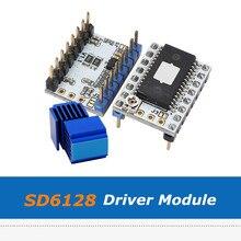 2 pces sd6128 v1.1 stepstick driver módulo, acessórios de impressora 3d 128 microstep sd6128 driver com pico 2.2a