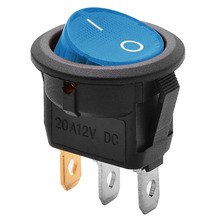 New DC 12V Boat Van ON/OFF Round Rocker Switch LED illuminated Car Dashboard Dash Rocker Switch Red/Blue/Green/Yellow