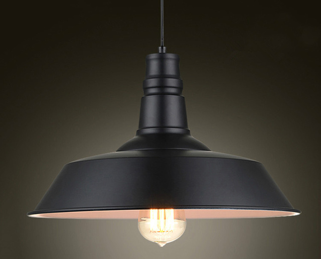 Vintage Hanglampen Smeedijzeren Deksel Zwart/Wit Industriële Lampen Hanger Loft Retro Opknoping Lamp Licht Armatuur