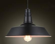 Vintage Mặt Dây Chuyền Đèn Đồng Hồ Nam Sắt Nắp Đen/Trắng Công Nghiệp Đèn Mặt Dây Chuyền Loft Retro Treo Đèn Đèn