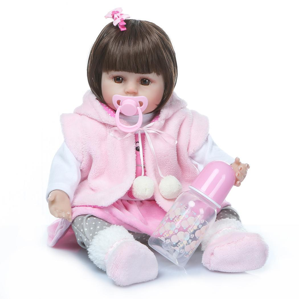 Kids Soft Silicone Realistic With Clothes Reborn Collectibles, Gift, Playmate 2-4Years Baby Opened Eyes DollKids Soft Silicone Realistic With Clothes Reborn Collectibles, Gift, Playmate 2-4Years Baby Opened Eyes Doll