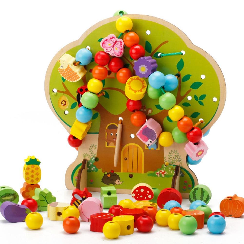 Beminnelijk 1 St Bijpassende Cognitieve Houten Leren Constructie Speelgoed Puzzel Bouwstenen Board Voor Kinderen Peuter Kids
