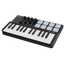 Worlde Panda mini teclado USB portátil de 25 teclas y almohadilla de tambor, controlador MIDI, controlador de piano, midi