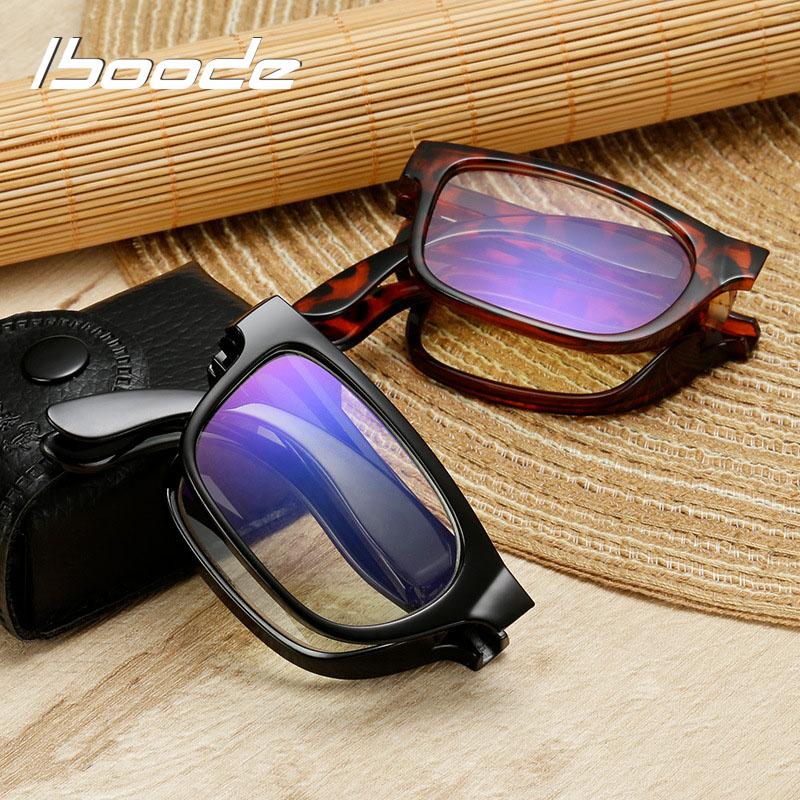 Iboode Unisex Folding Reading Glasses With Case +1.0 1.5 2.0 2.5 3.0 3.5 4.0 Portable Women Men Presbyopia Eyeglasses Eyewear