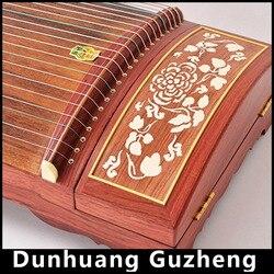Cina Rosewood Guzheng Dunhuang Kayu Profesional Alat Musik 21 String Zheng Kecapi Cithara Player, Sackcloth, Zithern China