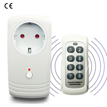 EU European Plug Wireless RF 433MHz Intelligent Smart AC Electrical Power Socket Outlet W/ Remote Control Switch German Schuko