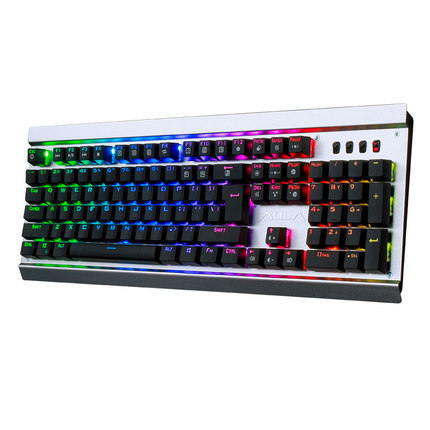 Original Defender Gaming Mechanical Keyboard USB Wired RGB Backlit Keyboard Black Shaft 104 Keys