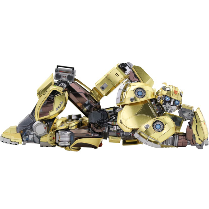 MMZ MODEL MU 3D Metal Puzzle Bumblebee T6 Movie version Model DIY Laser Cut Assemble Jigsaw Toys Desktop decoration GIFT For kid mu bumblebee t6 diy 3d metal puzzle assemble model kits laser cut jigsaw toys ym l066