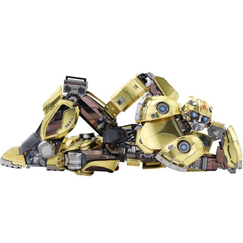 MMZ modèle MU 3D Puzzle en métal Bumblebee T6 version de film modèle bricolage Laser Cut assembler des jouets de Puzzle de bureau décoration cadeau pour enfant