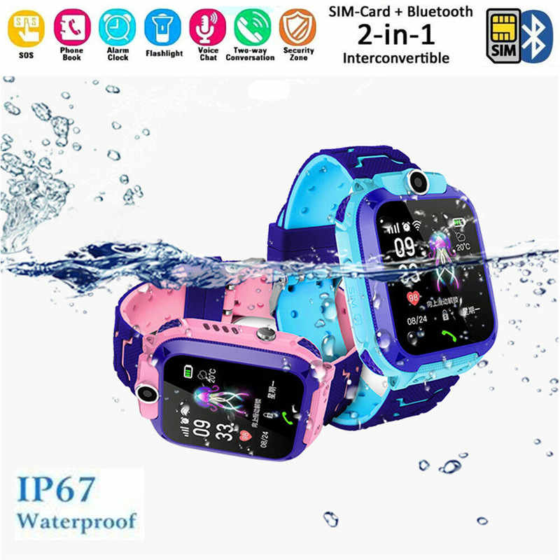 Waterproof Children Smart Watches GPS Tracker Monitor Voice Monitoring Phone for Kids Safety Android IOS