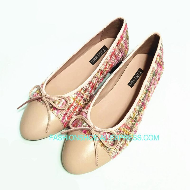 Femmes blue Interne Bout pink Red En Rond 42 Black Printemps 34 Taille Espadrilles Dames Arc Cuir 2018 Ballerines white Chaussures Appartements rosy Mode Nw0Ok8nXP