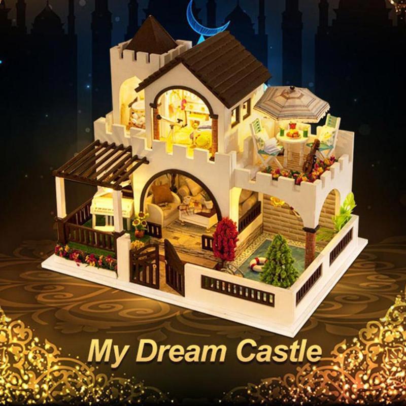 Bricolage maison de poupée Kit de meubles Miniaturas jouets assemblage bâtiment maison de poupée en bois Miniature pour enfants nouvel an cadeaux de noël