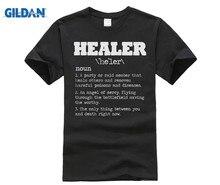 GILDAN Healer RPG Gamer T Shirt - Video Game MMORPG PC WoW Horde Alliance Rogue Summer Cotton T-Shirt Fashion
