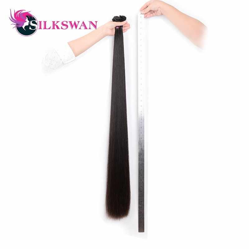 Silkswan Hair Buy 30 Inch 32 34 36 38 Inch 40Inch 42 Inch Bundles Brazilian Hair Straight Remy 28 Inch Hair Bundle Natural Color