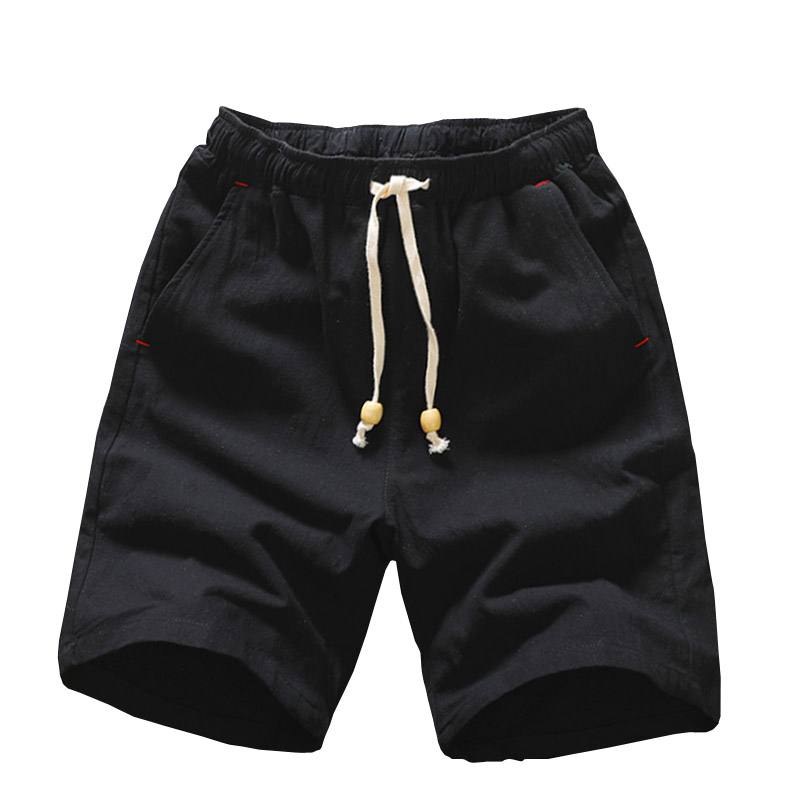 2019 Summer New Cotton Shorts Loose Men's Casual Shorts Black White Drawstring Waist Bermuda Shorts Men Plus Size 3XL 4XL 5XL