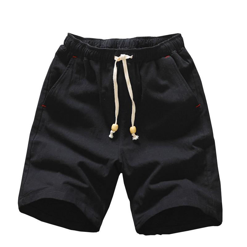 2019 Summer New Cotton Shorts Loose Men's Casual Shorts Black White Drawstring Waist Bermuda Shorts Men Plus Size 3XL 4XL 5XL