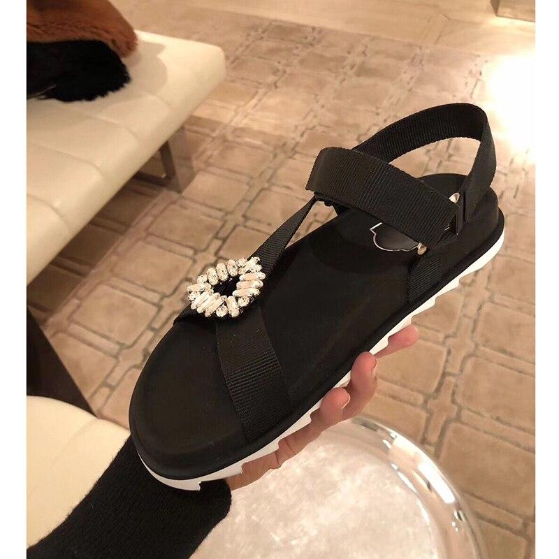 Sandales Femme Plateforme Design Glissement 2018 As Bling Décontracté Show À Marque Pour Appartements Rivers D'été Stud Mujer Chaussures Sandalias gqnYdf