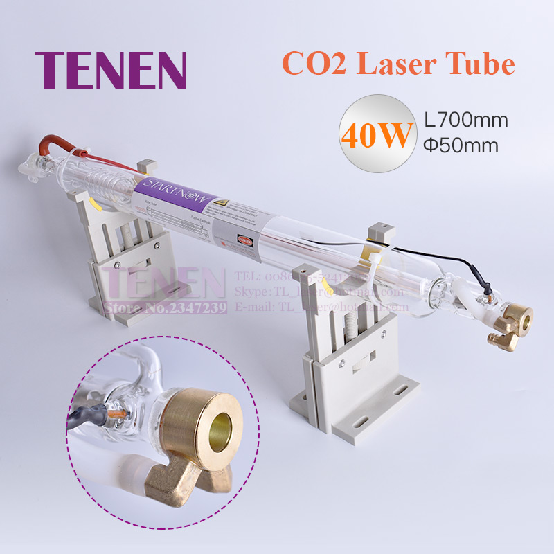CO2 Laser Tube 40W 700mm Dia 50mm Co2 Laser Glass Lamp For CO2 Laser Carving Cutting