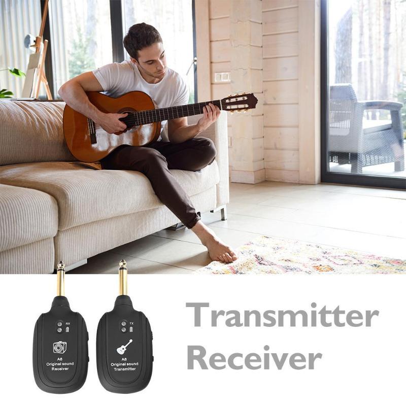 Système émetteur récepteur de Transmission Audio sans fil pour guitare basse