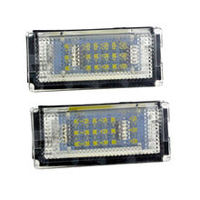 купить 2pcs 18 LED Car Rear Number License Plate White LED Light Lamp 3528-SMD LED 6500K 3W For BMW 3 Series E46 M3 2D дешево