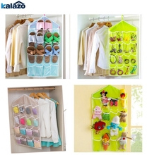 16Pockets Clear Hanging Bag Socks Bra Underwear Rack Hanger Storage Organizer #20