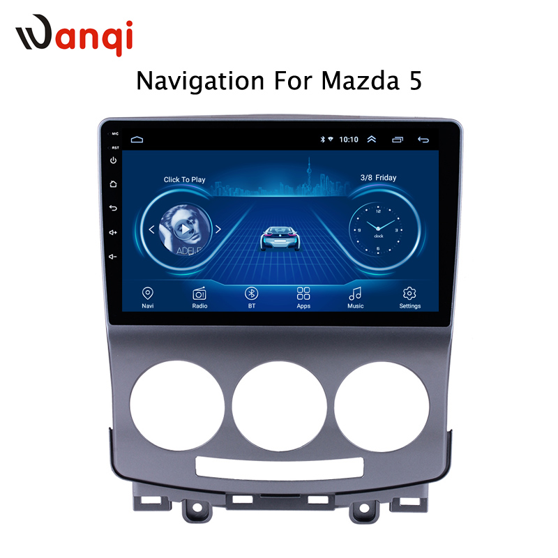 2.5D full touch Screen Android 8.1 Car Radio DVD Player for <font><b>Mazda</b></font> <font><b>5</b></font> 2005-2010 <font><b>GPS</b></font> Glonass Navigation Audio Video SWC image