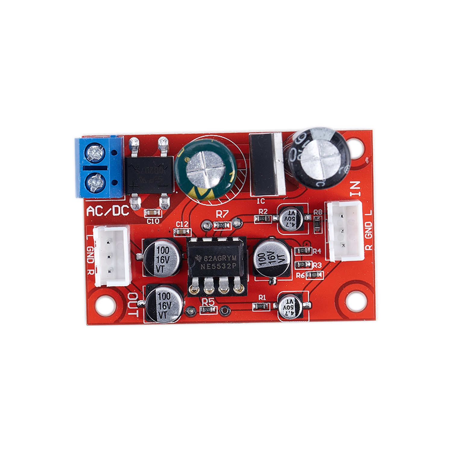 ne5532 dynamic microphone stereo preamp amplifier board signal shielding wire in amplifier. Black Bedroom Furniture Sets. Home Design Ideas