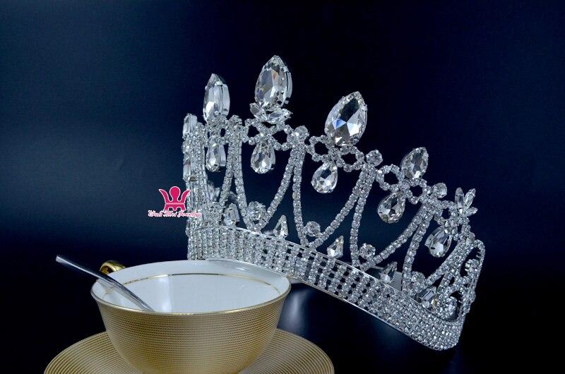 Короны оригинальный горный хрусталь кристалл Mrs красоты конкурса корона свадьбы, памятные события Свадебные аксессуары для волос стиль кор... - 2