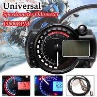 15000rpm Modern Motorcycle Digital Light LCD Digital Gauge Speedometer Tachometer Odometer Adjustable Motorcycle 7 color